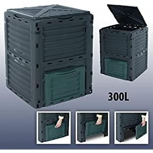 4smile 300 Litre Garden Composter Bin Composting Waste Box Recycling Eco Storage:Viralinfo