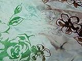 Kleiderstoff, Blumenmuster, Flockdruck, Polyester, Chiffon,