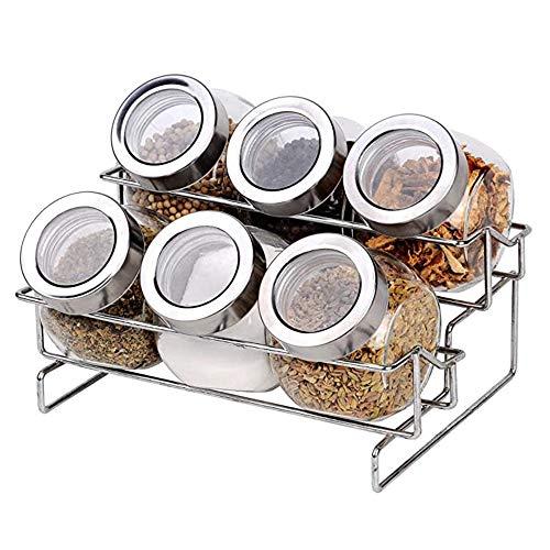 Premium Kwaliteit 2-tier Kruidenrek, Set Kruidenpotjes, Gemakkelijk Schoon Te Maken, Voor Elke Keuken