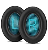 Replacement Ear Pad Cushion Memory Foam Ear Cup Repair for Bose Headphones Quiet Comfort 2 Qc2, Qc15, 25 Qc25, Ae2, Ae2I, Ae2W Headphone (Black 2)