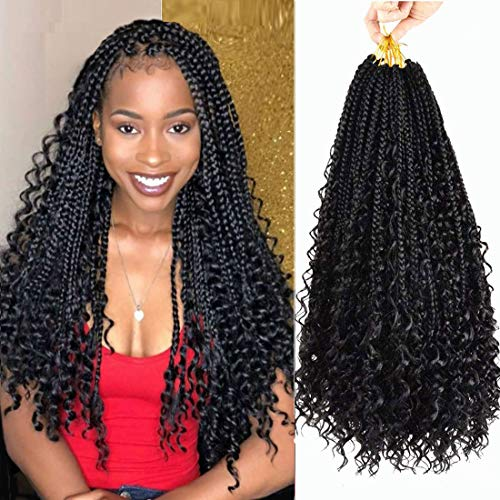 7 Packs Crochet Box Braids 20 inch Box Braid Crochet Hair Extension 3X...
