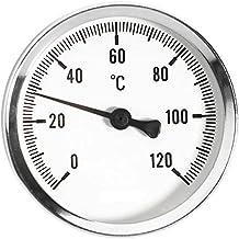 63mm 0-120c medidor de temperatura termo medio termómetro entrada trasera pulgadas