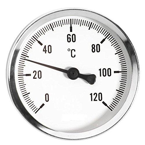 63mm 0 - 120C Thermo Wasser Öltemperaturanzeige 1/2 Zoll Heckeinstieg Thermometer