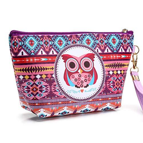 JooNeng Bolsa de maquillaje para niñas, bolsa de cosméticos de búho, bolsa de aseo pequeña, bonita monedero para mujeres, tótem