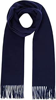 Scarf for Men Men's Scarves With Tassles,Winter Elegant Navy Blue Men's Wool Scarf, Fashionable Business Comfortable Warm ...
