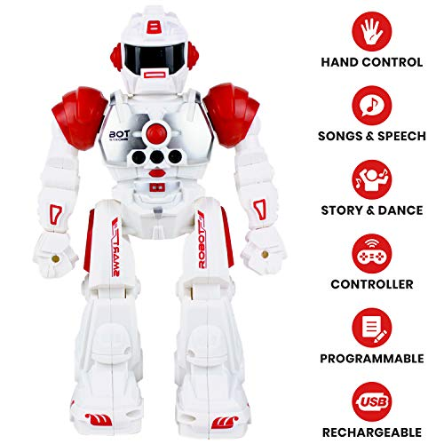 Boley 2099 RC Remote Controlled Robot for Kids - Intelligent Programmable with Infrared Controller Toys, Dancing, Singing, Talking Robot Friend Kids