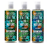 Faith In Nature Coconut Shampoo, Conditioner and Shower Gel Trio Pack
