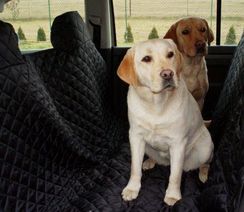 tierlando Autoschondecke MAX Auto Hundedecke Schutzdecke 160 180 200cm x 140cm Größe: SM 200 cm | Farbe: 03 Schwarz