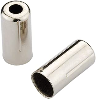 Jagwire 5mm Open Pre-Crimped End Caps, Chrome Plated, Bottle of 200