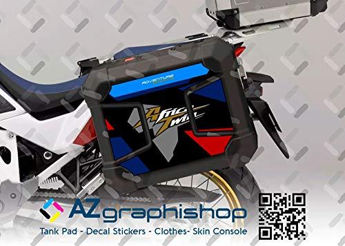 Kit de 2 protecciones adhesivas para maletas Honda Africa Twin CRF 1100 L Adventure Sports V-AT-CRF-1100-P TRICOLOR