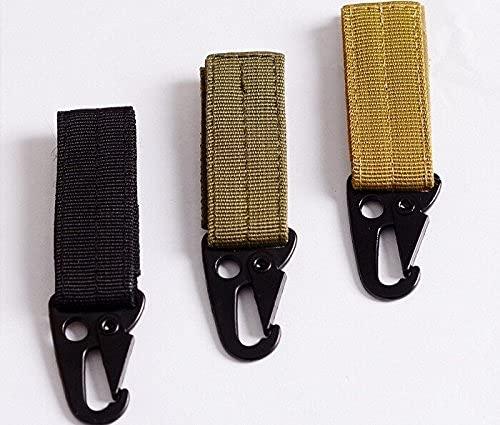 3 PIEZAS Gancho de llave de nylon de alta resistencia del mosquetón MOLESTAR de cinturón de hebilla de hebilla de correas Hebilla de cinturón colgando Accesorios de senderismo para acampar // 436