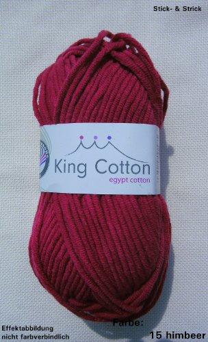 Preisvergleich Produktbild Grundl 50 gr. King Cotton Fb. 15 Himbeer,  Neu,  Sommergarn,  Strickwolle