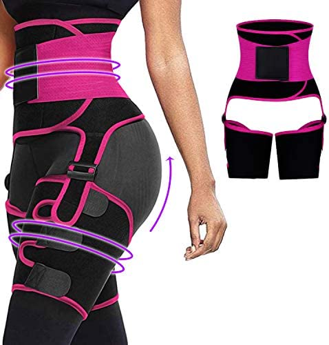 3 In 1 Waist And Thigh Trainer For Women Double Compression Support Sweat With Adjustable Elasticity product image