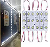 9.8 FT 5730 3 Led Module Light White Waterproof with Self-Adhesive Tape for Sign Lettering Storefront Window Exterior Light,Only LED Lights,12V Power Supply Not Included