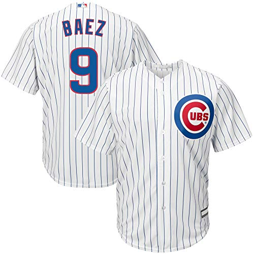 Outerstuff Javier Baez Chicago Cubs MLB Boys Youth 8-20 Player Jersey (White Home, Youth Small 8)