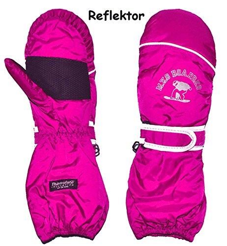 alles-meine.de GmbH Thermohandschuh / Fausthandschuhe - mit langem Schaft -  rosa - pink  - Größe: 6 bis 7 Jahre - Reflektor ! _ wasserdicht + atmungsaktiv Thinsulate - Thermo ..