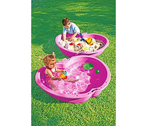 Chad Valley Pink Sand and Water Pit- 111 Litre in each pool