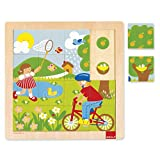 Goula- Spring Puzzle Encajes Madera Primavera (Diset 53085)