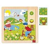 Goula- Spring Puzzle Encajes Madera Primavera, Multicolor (Diset 53085)