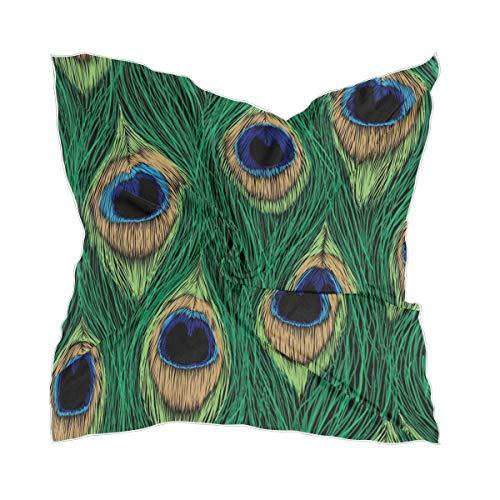 Lichtgewicht zijden sjaal Sheer Art Peacock veer halsdoek headskerchief headpiece chiffon