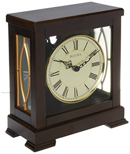 Bulova B1653 Victory Mantel Chime Clock-B1653, Brown