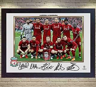 S&E DESING 2019 Liverpool FC NO MO Salah Mohamed Full Signed Photo Poster Framed