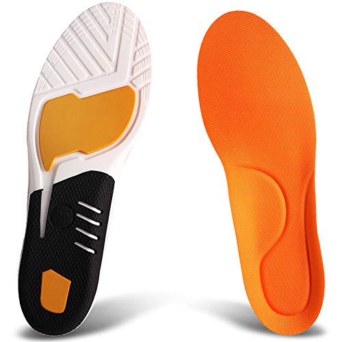 Ailaka Athlete Gel Cushion Neutral Arch Sports Shoe Insoles, Performance Running Inserts for Man and Women