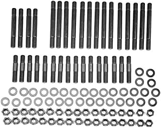 ARP 234-4710 Pro Series Black Oxide 12-Point Cylinder Head Stud Kit for Small Block Chevy with 18 Degree Head and Brodix/Rodeck Aluminum Block