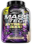 MuscleTech Mass-Tech Extreme 2000 Whey Protein Powder | Max-Protein Mass Gainer + Creatine Monohydrate for Muscle Size & Strength | 80g of Protein, 10g of Creatine, 17.8g of BCAAs | Vanilla, 7 Pounds