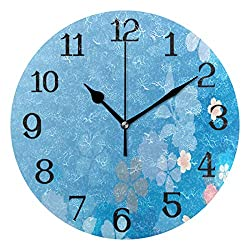 Ernest Congreve Modern Wall Clock, Camel in Desert Silent Non-Ticking Quartz Decorative Battery Operated Wall Clock for Living Room Home Office School Square Shape 10 inch