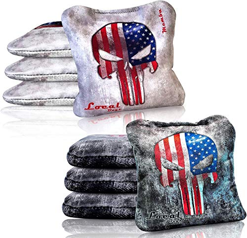 Local Bags Cornhole - Mamba Series - Set of 8 Bags- ACL Approved Resin Filled - Double Sided - Sticky Side/Slick Side Made in USA…