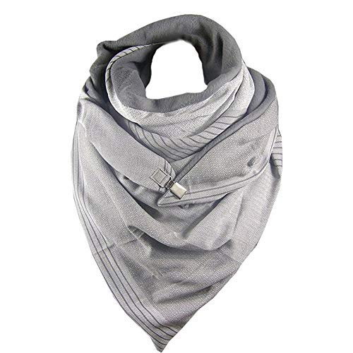 Fashion Printed Button Scarf Women Retro Cotton Blend Casual Design Scarves Shawl