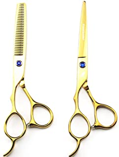 Left-Handed Professional Hair Scissors, Sharp Blade Cut Hair Cutting Salon Scissor Barber Shears Hairdressing Scissors,6.0...