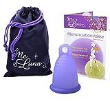 MeLuna Sport Copa Menstrual, Anillo, Violeta Azulado, Talla XL - 1 Unidad