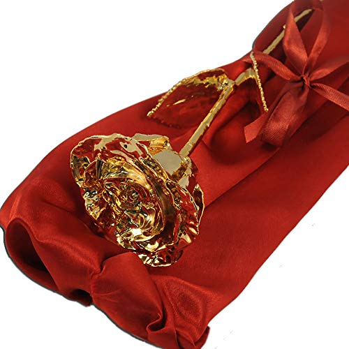 Calledelregalo Regalo Personalizable para Mujer: Rosa de Oro Personalizada con el Texto Que tú Quieras. (Rosa de Oro Personalizada)