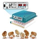 ETE ETMATE Incubatrice per uova, 36 incubatrici elettriche doppie automatiche,con pinne e illuminazione per uova a LED,utilizzate per l'incubazione di uova di oca e di quaglia, incubatrici di uova