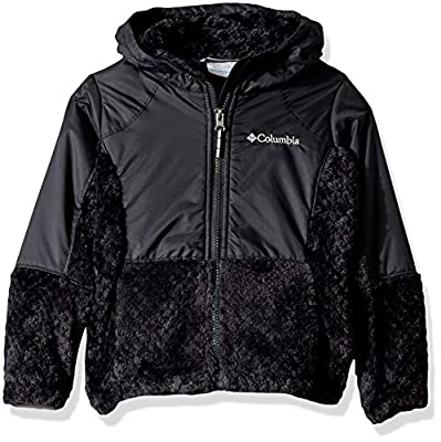 Columbia Girls' Big Fire Side Sherpa Hybrid Full Zip, Black, XX-Small