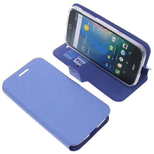 foto-kontor Tasche für Acer Liquid Z330 Book Style blau Schutz Hülle Buch