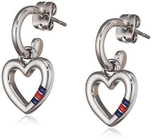 Tommy Hilfiger jewelry–Pendientes Classic Signature Acero Inoxidable Esmalte–2700808
