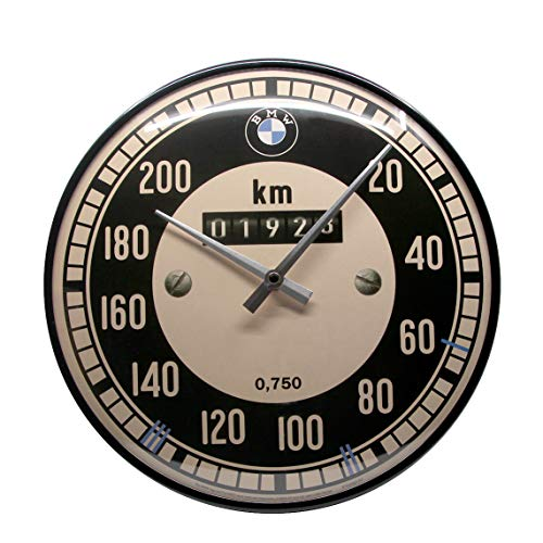 Nostalgic-Art BMW-Tachometer Wanduhr, Metall, bunt, 31 x 31 x 5,5 cm