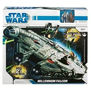 Hasbro Star Wars 2010 Legacy Collection Millennium Falcon Huge Ship w/Han and Chewbacca Figures, 30 inch (B001B4PCS4) | Amazon price tracker / tracking, Amazon price history charts, Amazon price watches, Amazon price drop alerts
