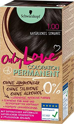 Schwarzkopf Only Love Coloration 1.00 Natürliches Schwarz, 143 ml