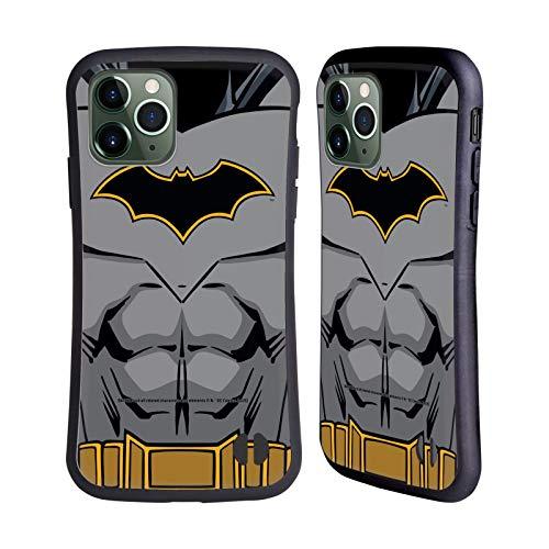 Head Case Designs Oficial Batman DC Comics Disfraz de Renacimiento Logotipos Carcasa hbrida Compatible con Apple iPhone 11 Pro