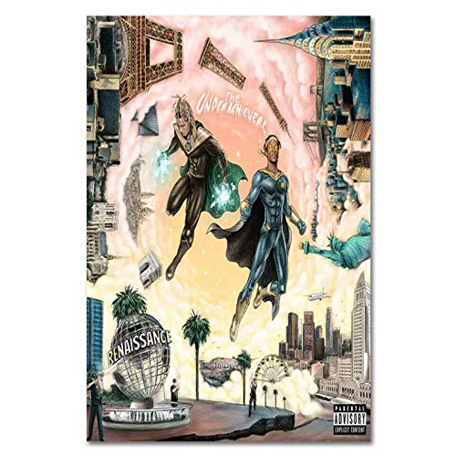 Empty The Underachievers Renaissance Album Cover Painting Wall Art Poster and Prints Print On Canvas for Living Room Home Bedroom-24X32 Inchx1 Frameless