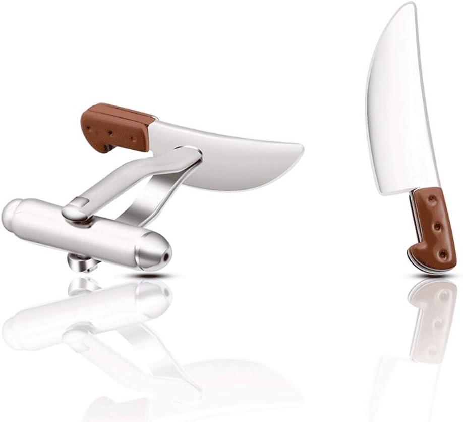 ZNBJJWCP New Copper Cufflinks Kitchen Knife Cufflinks Men's and Women's Shirts Party Practical Fashion Jewelry Creative Cufflinks