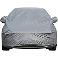 Sipobuy Universal impermeable a prueba de arañazos prueba duradera coche cubierta de algodón transpirable forrado resistente (S: 400*160*120CM)