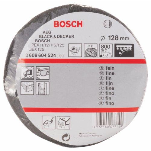 Bosch Professional Schleifvlies für Exzenterschleifer (5 Stück, Ø 128 mm, Körnung 800, fein)