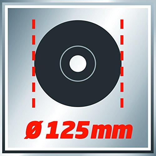 Einhell Meuleuse d'angle TC-AG 125 (850 W, Capot de protection, Blocage de l'arbre, Tête métallique, Livré avec poignée supplémentaire et clé à bride, sans disque)