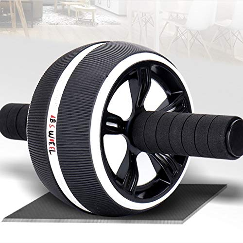Rueda abdominal AB Rodillo para el entrenamiento de núcleo de fitness ejercicio abdominal rueda corporal fitness fuerza máquina de entrenamiento casero gimnasio hombres mujeres especialmente útil para