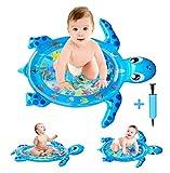 GuDoQi Aufblasbare Wassermatte Baby, Schildkröte Bauch Zeit Wasserspielmatte, Auslaufsicheres PVC...